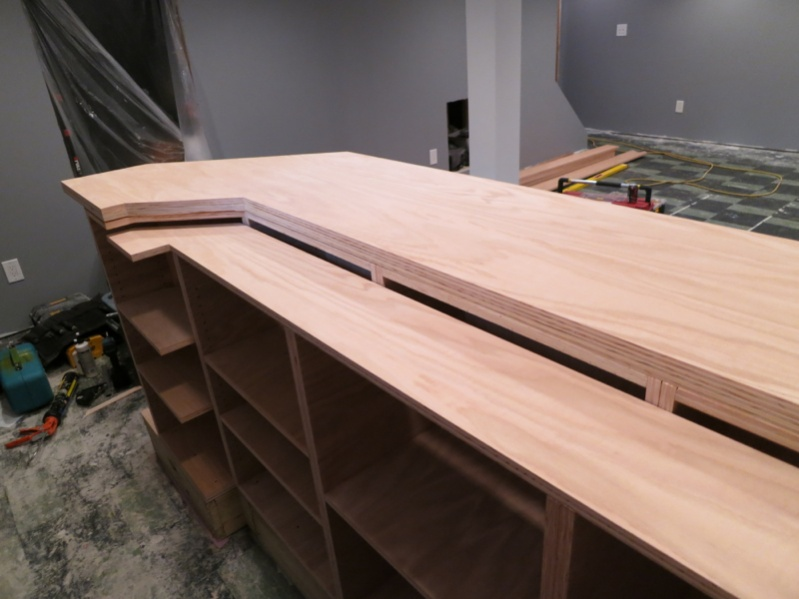 Custom bar build finish carpentry contractor talk for How to build a bar top