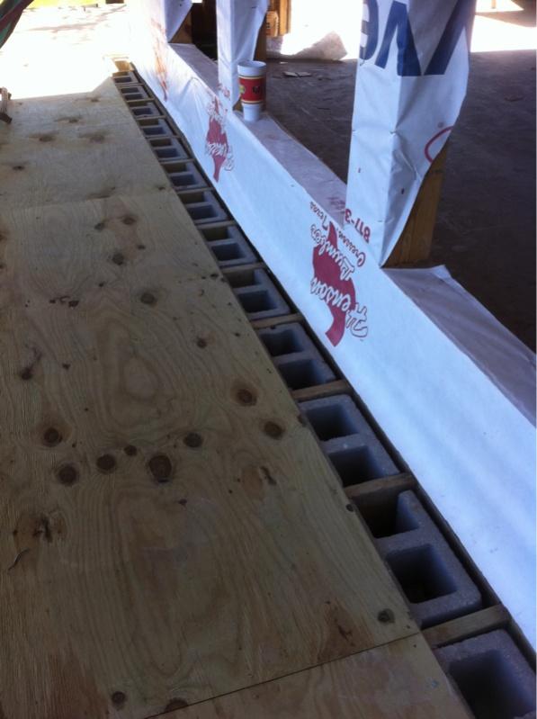 how to build a raised concrete deck