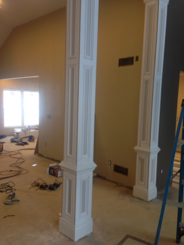 wrapping interior columns finish carpentry contractor talk
