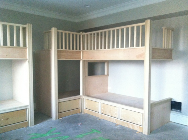 Built In Bunk Beds Page 2 Carpentry Picture Post
