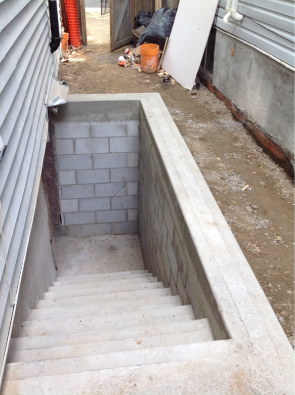 Basement stairs outside page 2 masonry contractor talk for Basement entrance design