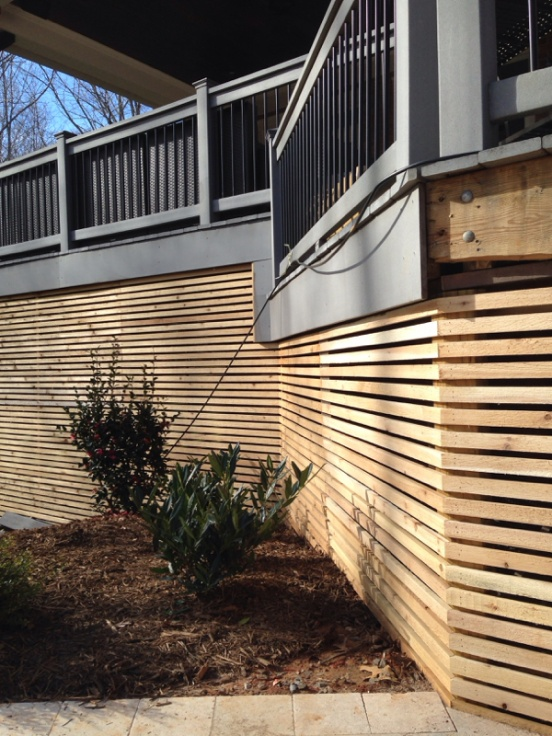 Deck Lattice Carpentry Picture Post Contractor Talk