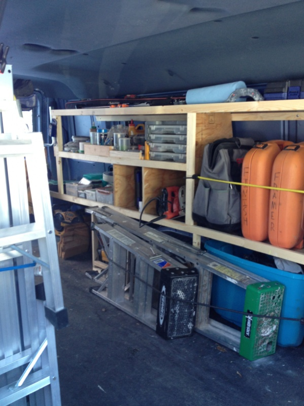 Wood Storage Shelving For Cargo Vans Vehicles