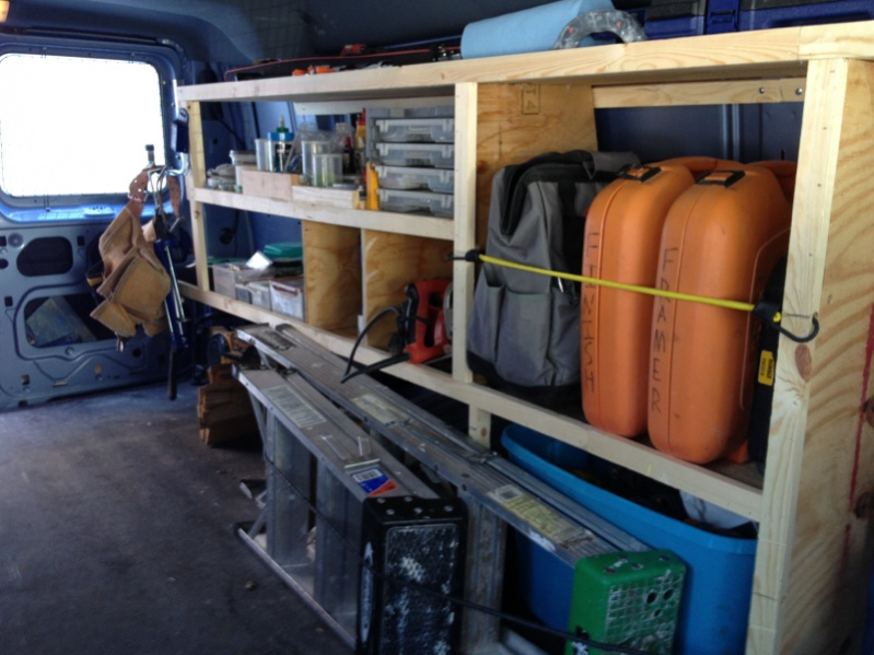 Wood Storage/Shelving For Cargo Vans - Vehicles - Contractor