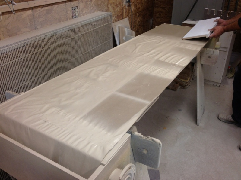 Set Up For Spraying Cabinet Doors Painting Finish Work