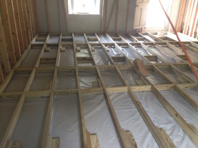 Framing A Floor Over Concrete Carpentry Contractor Talk