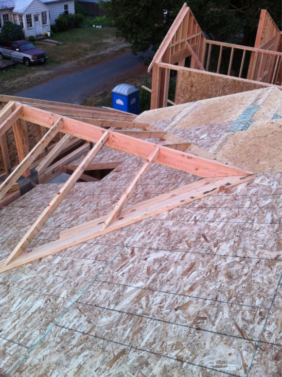 Over Framing A Cross Gable Roof To A Open Great Room
