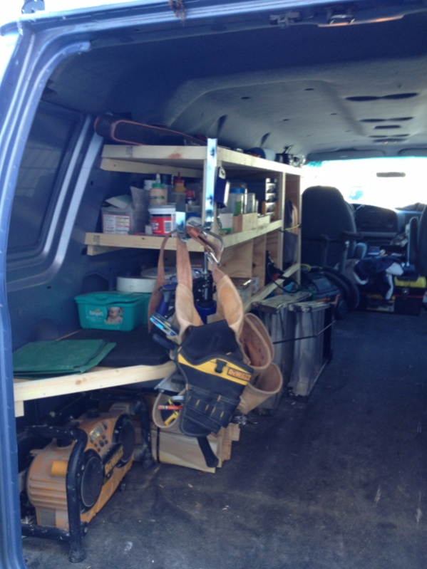 Wood Storage Shelving For Cargo Vans Vehicles