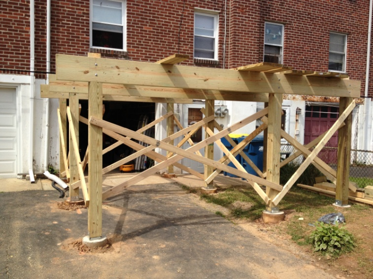 Freestanding deck need ideas page 3 decks fencing for Free standing elevated deck plans