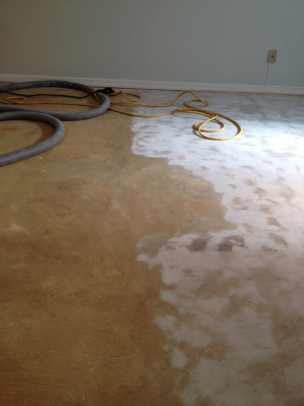 Glue removal from concrete floor flooring contractor talk for Removing concrete floor