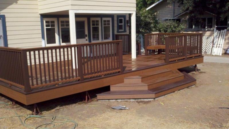 Deck Stair Patio Stones Or Footing Decks Amp Fencing