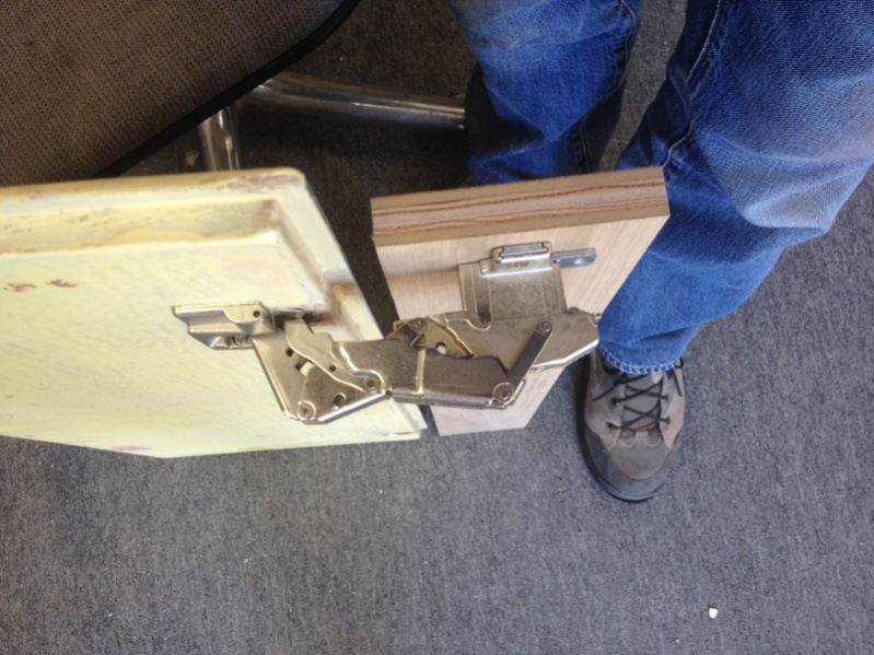 Euro Style Hinges On Partial Inset Cabinets Finish