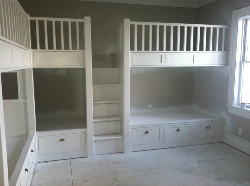 built in bunk beds page 3 carpentry picture post contractor talk. Black Bedroom Furniture Sets. Home Design Ideas