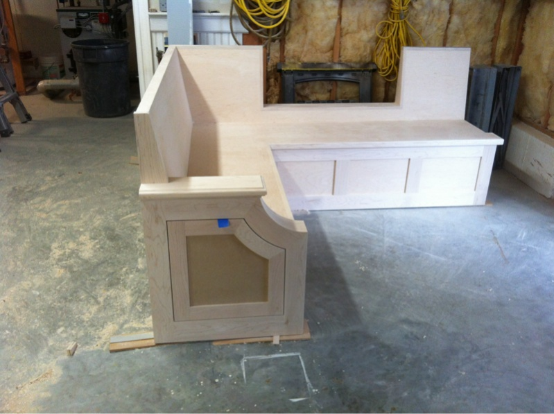 Terrific Kitchen Bench Seat Finish Carpentry Contractor Talk Machost Co Dining Chair Design Ideas Machostcouk