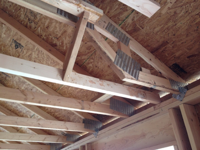 Vaulted ceilings question page 2 framing contractor talk for Vaulted ceiling trusses