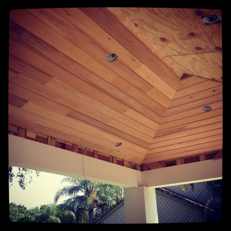 T Amp G Vaulted Hip Ceiling Carpentry Picture Post