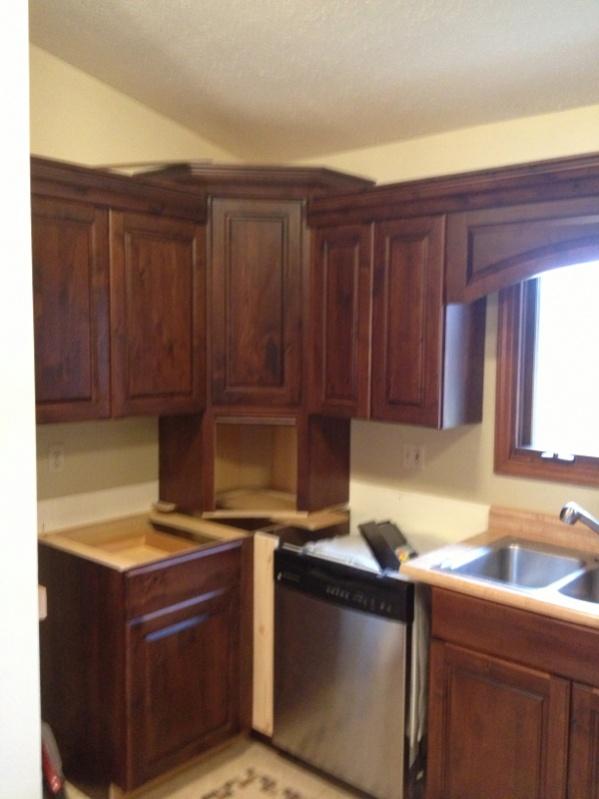 Crown Return To Angled Corner Cabinet - Finish Carpentry ...