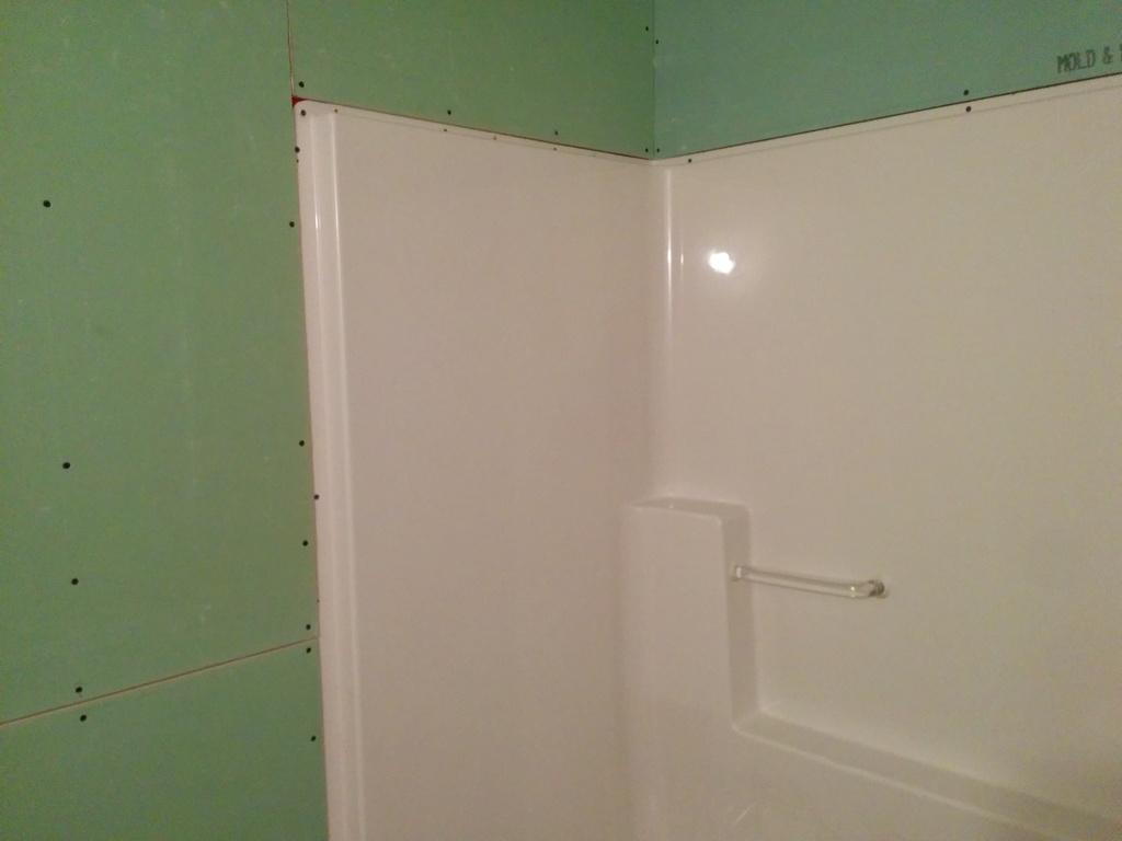 Screwing Drywall Around Tub Enclosures Drywall