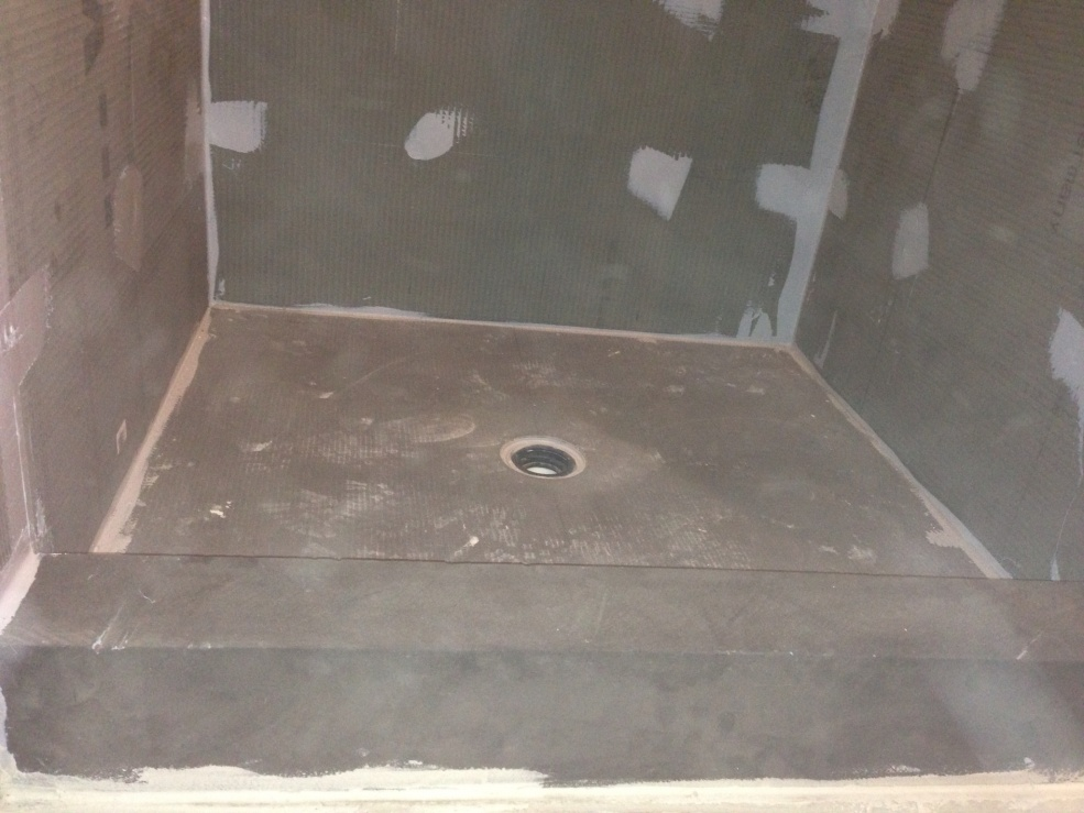 re wedi shower install