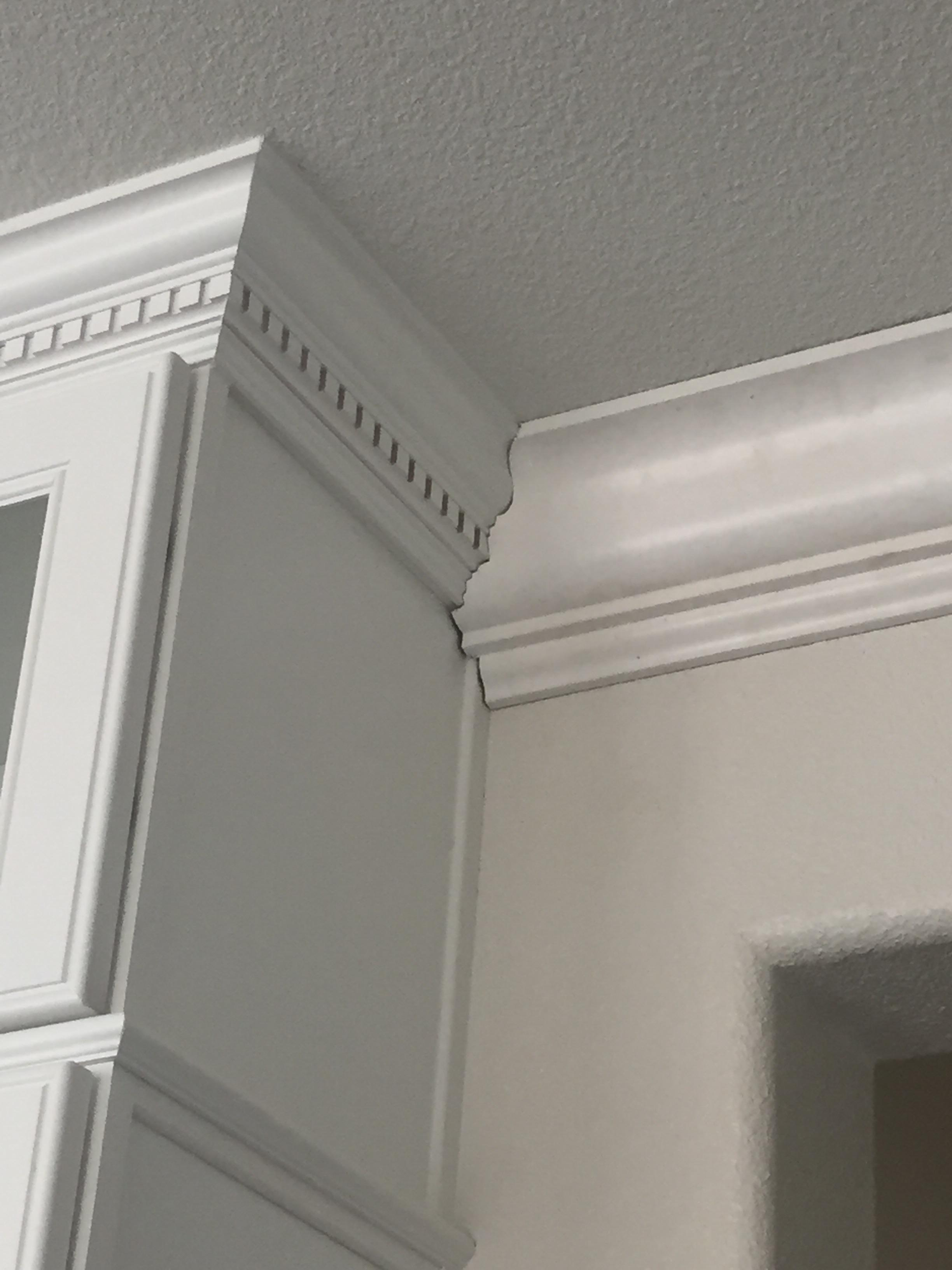 Joining 2 Different Crown Moldings Page 2 Finish