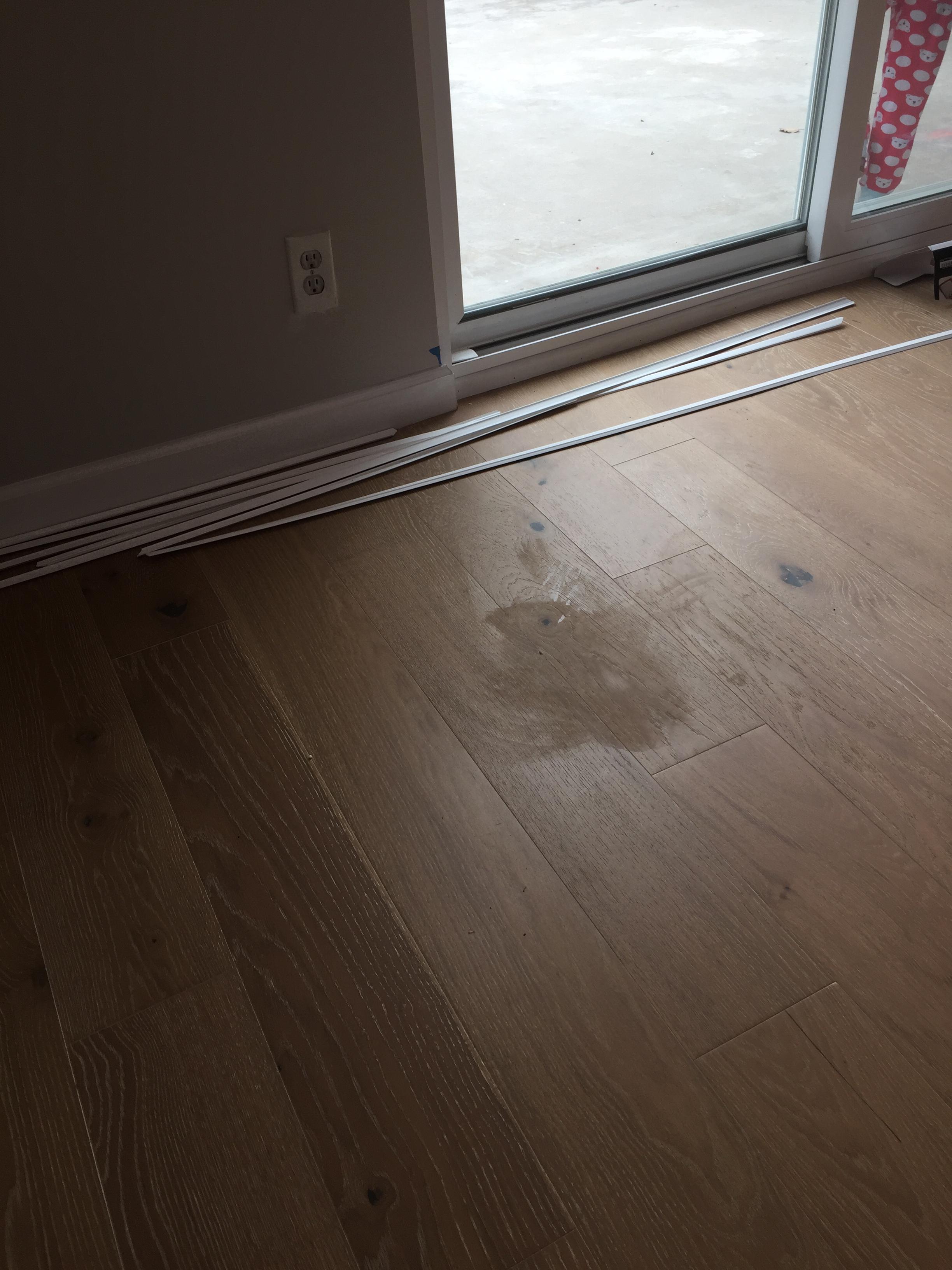 Engineered Wood Glue Residue