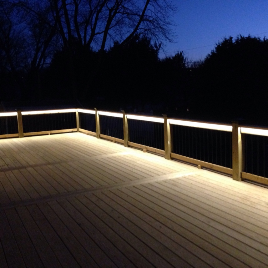 Deck lighting done decks fencing contractor talk deck lighting done aloadofball Choice Image