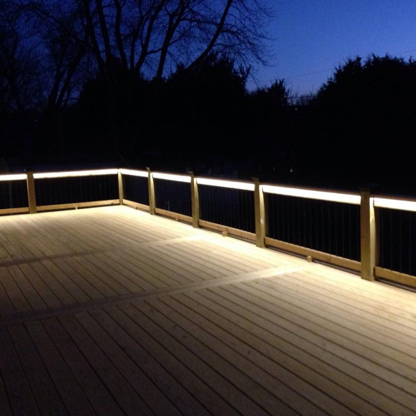 Deck Lighting Done Decks Fencing Contractor Talk