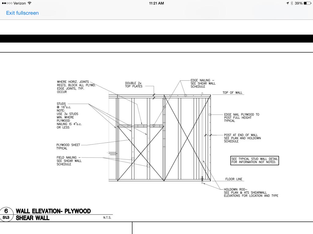 Shear Wall Bottom Plate Framing Contractor Talk