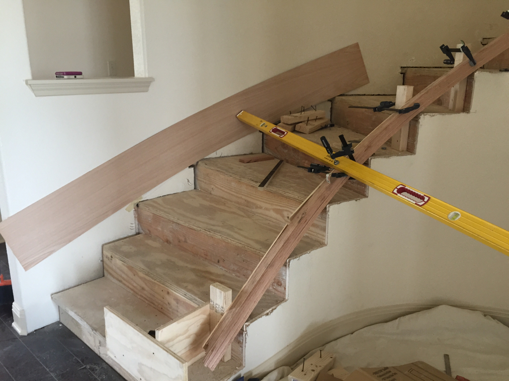 Skirt Board On Curved Stairs Finish Carpentry