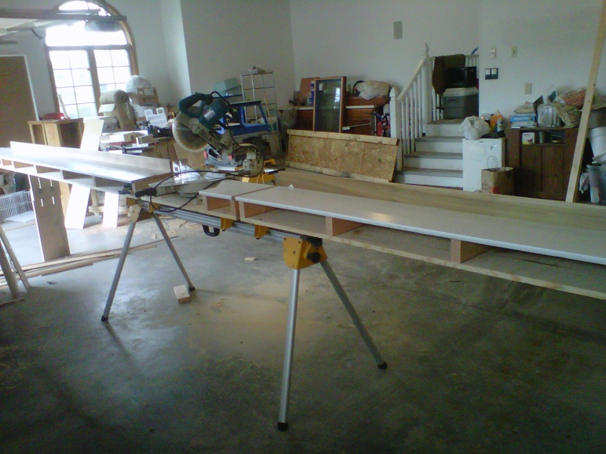 My Started Custom Modified Miter Saw Stand Tools