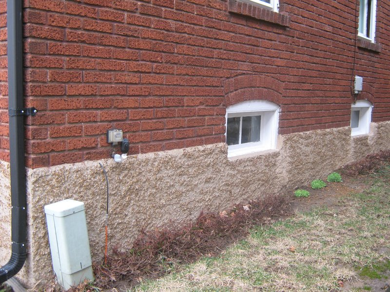 wet basement french drain vs footer drain img_0005jpg - House Footer