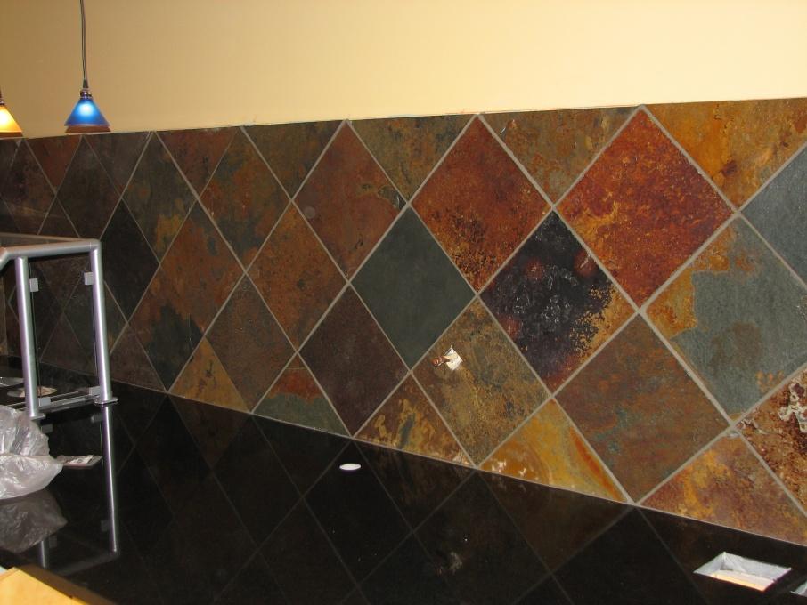 Sealing Slate Floor Tiles Before Grouting Img 0151 Jpg