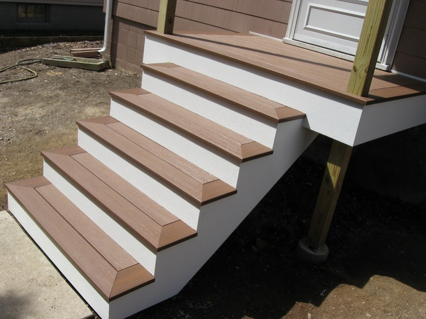 Composite step questions decks fencing contractor talk for Composite exterior stair treads