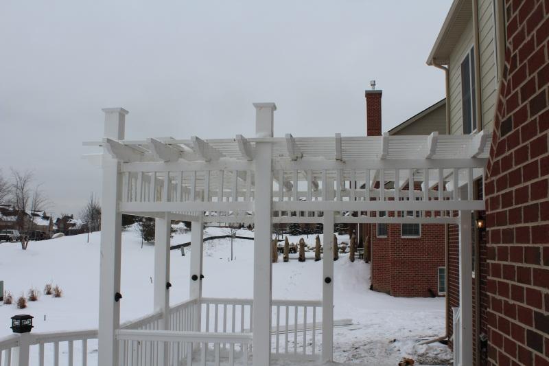 white vinyl rail and trellis decks fencing contractor talk