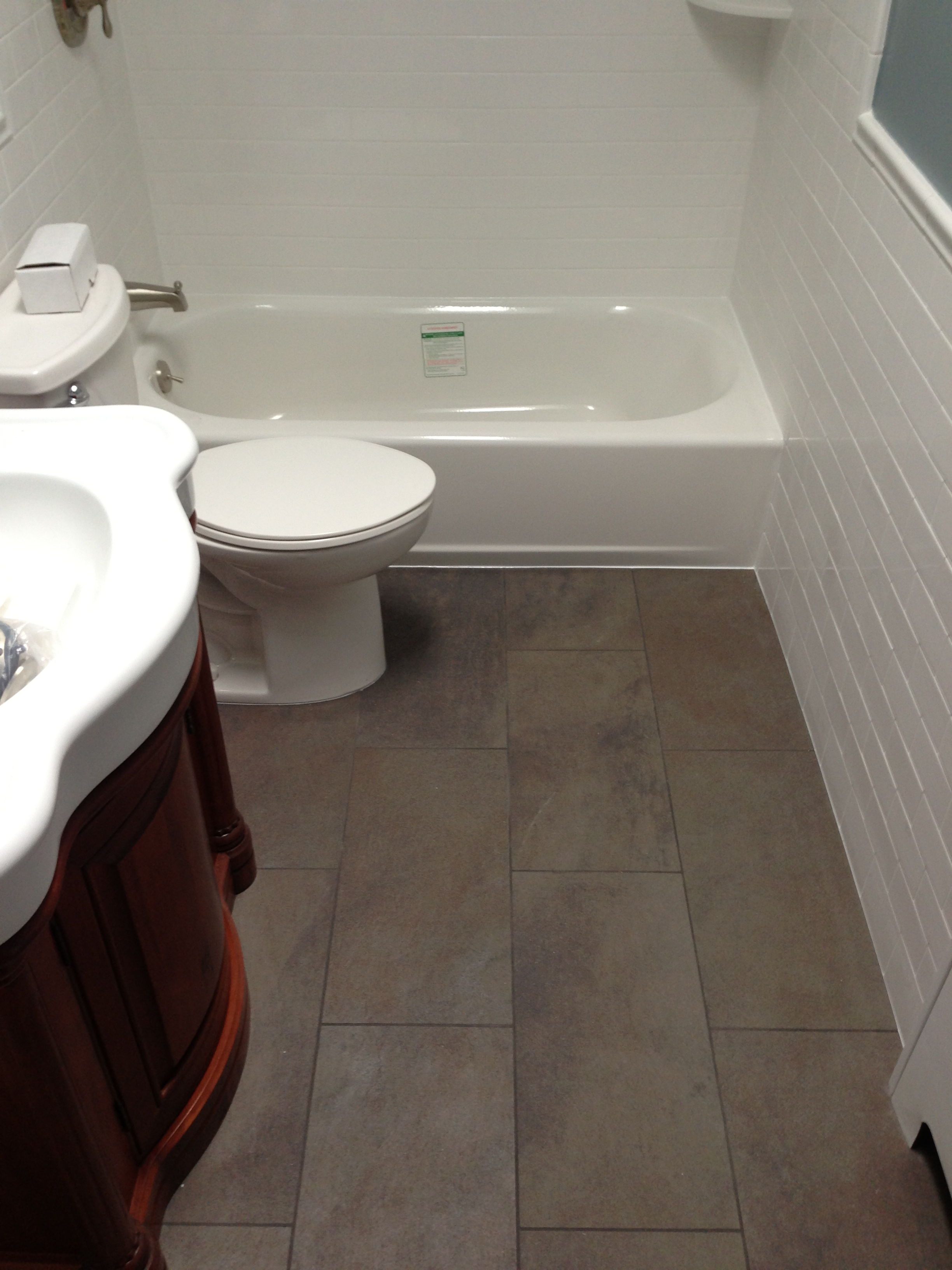 Large Tile Small Bathroom Contractor Talk Professional Construction And Remodeling Forum