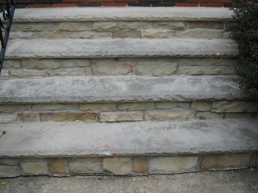 Bon Chipped Limestone Step Tread Edge