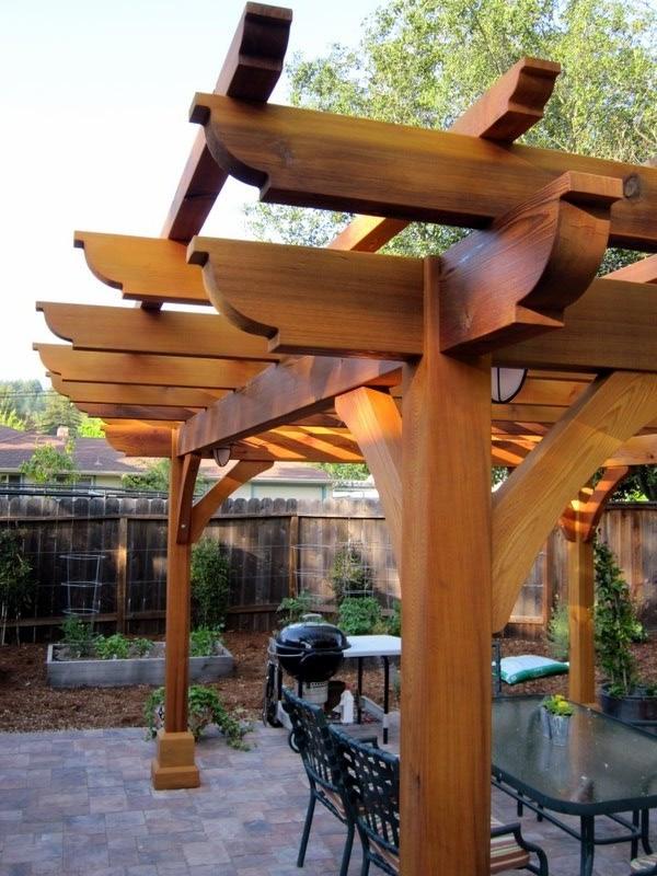 cedar wood arbor 3