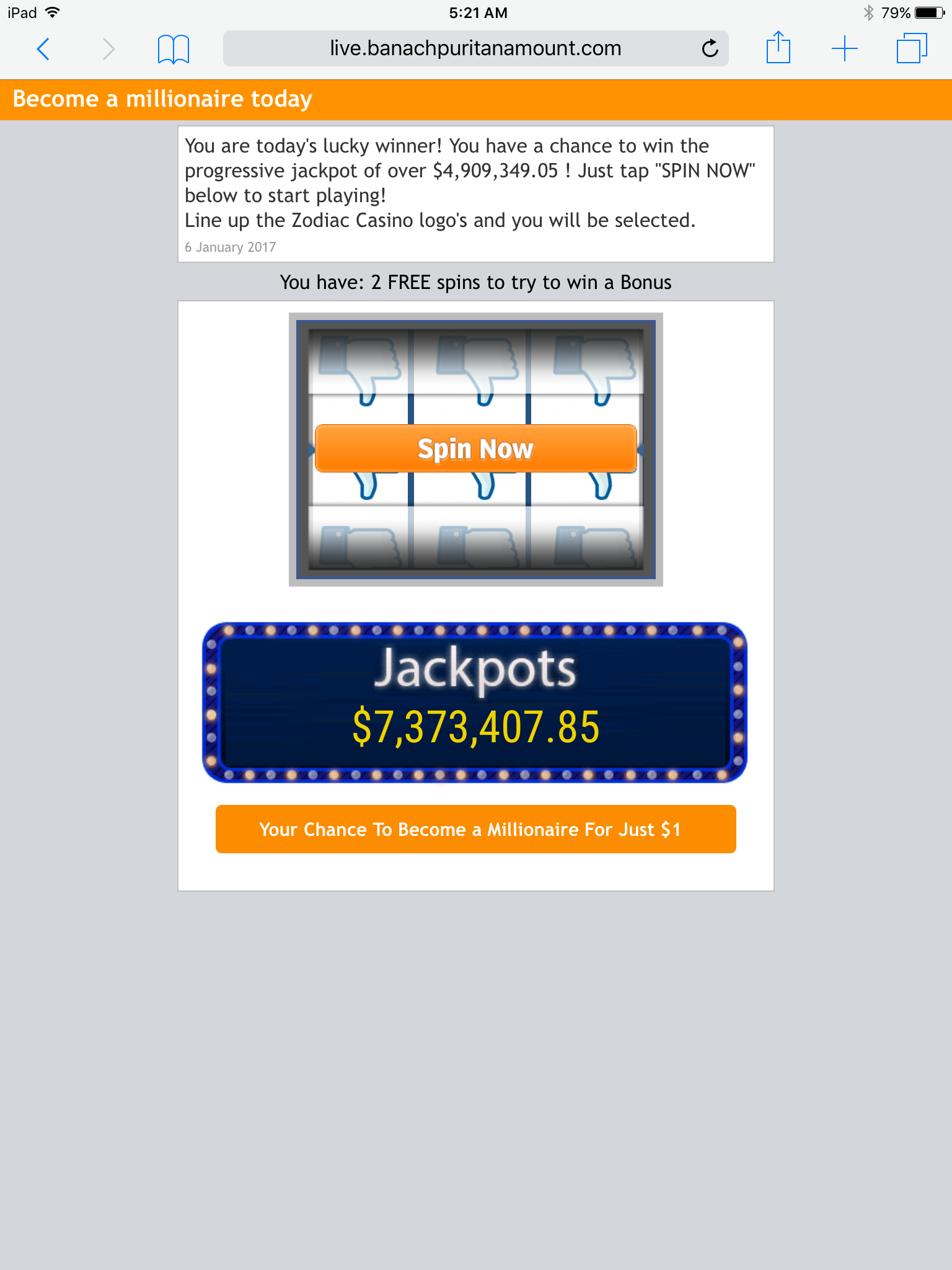 Use of mobile site on CT has popups that hijack browser-img_0645.png