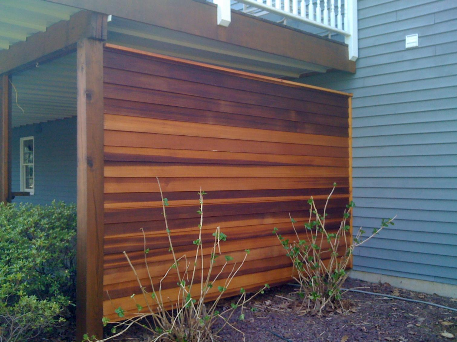 cedar privacy wall decks fencing contractor talk