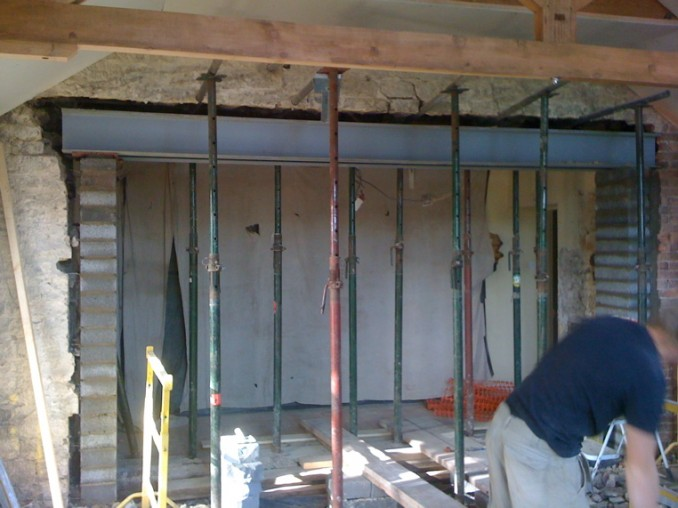 Needle Beam Shoring For Wall : Load bearing opening masonry contractor talk