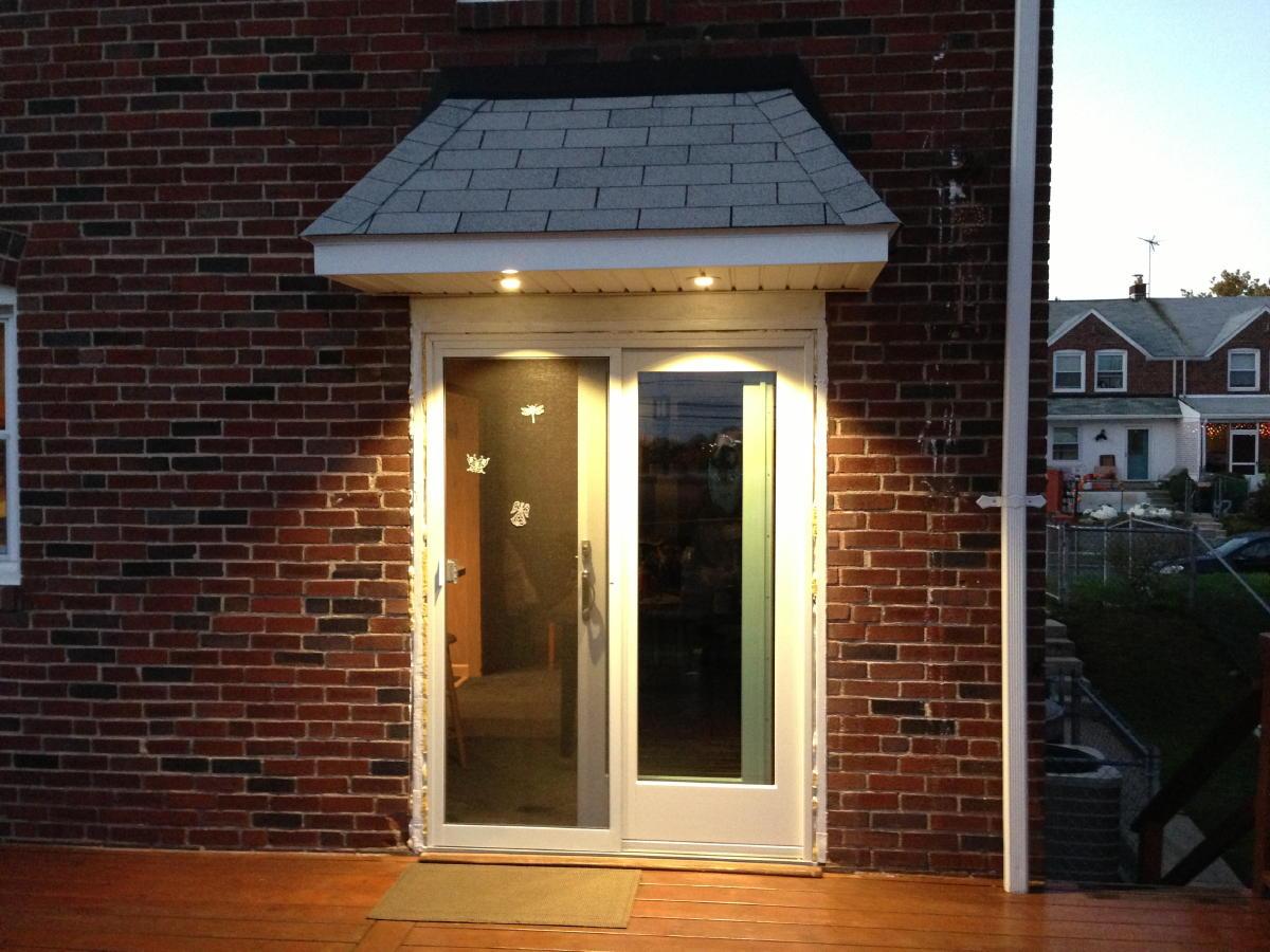 Back door overhang carpentry contractor talk for How to build a roof overhang over an exterior door