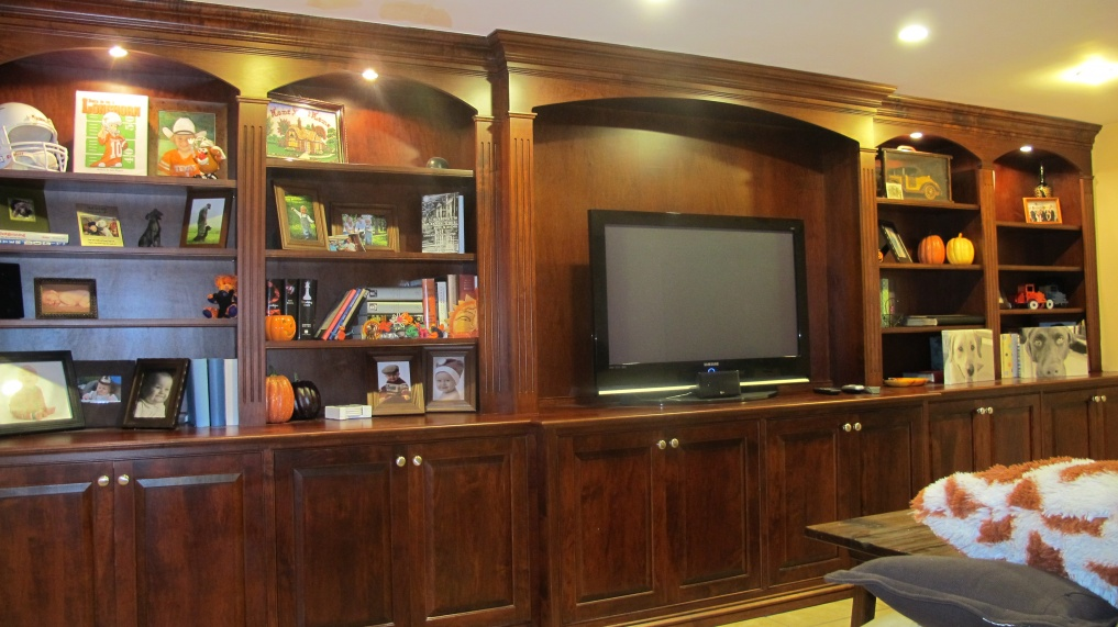 basement built ins and trimwork carpentry picture post contractor