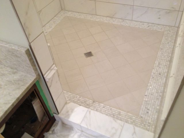 Kerdi Shower Pan Large Format Tiles Tiling