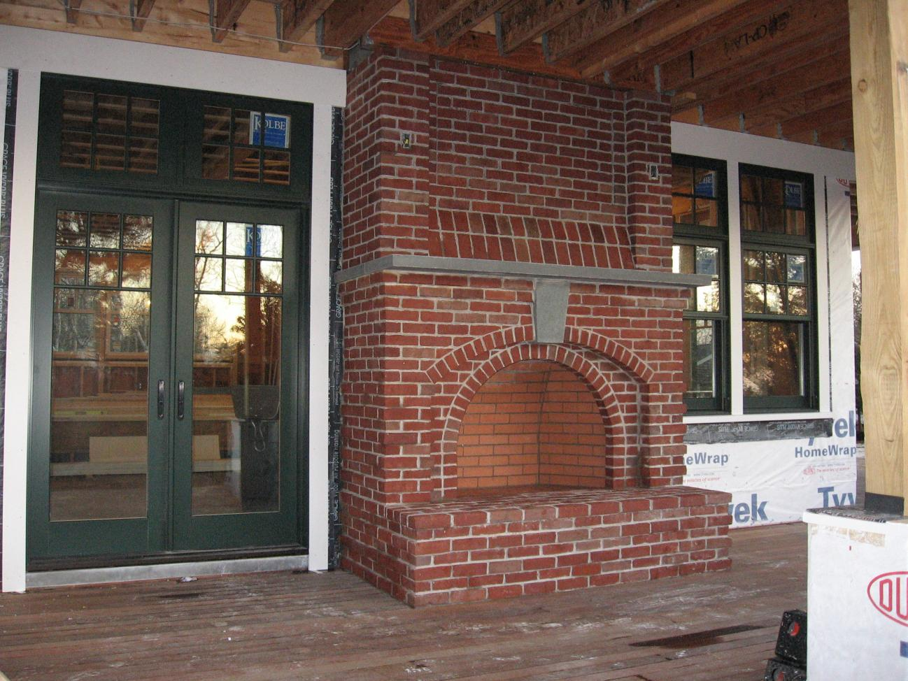 Screen porch fireplace construction contractor talk for Screened in porch fireplace ideas