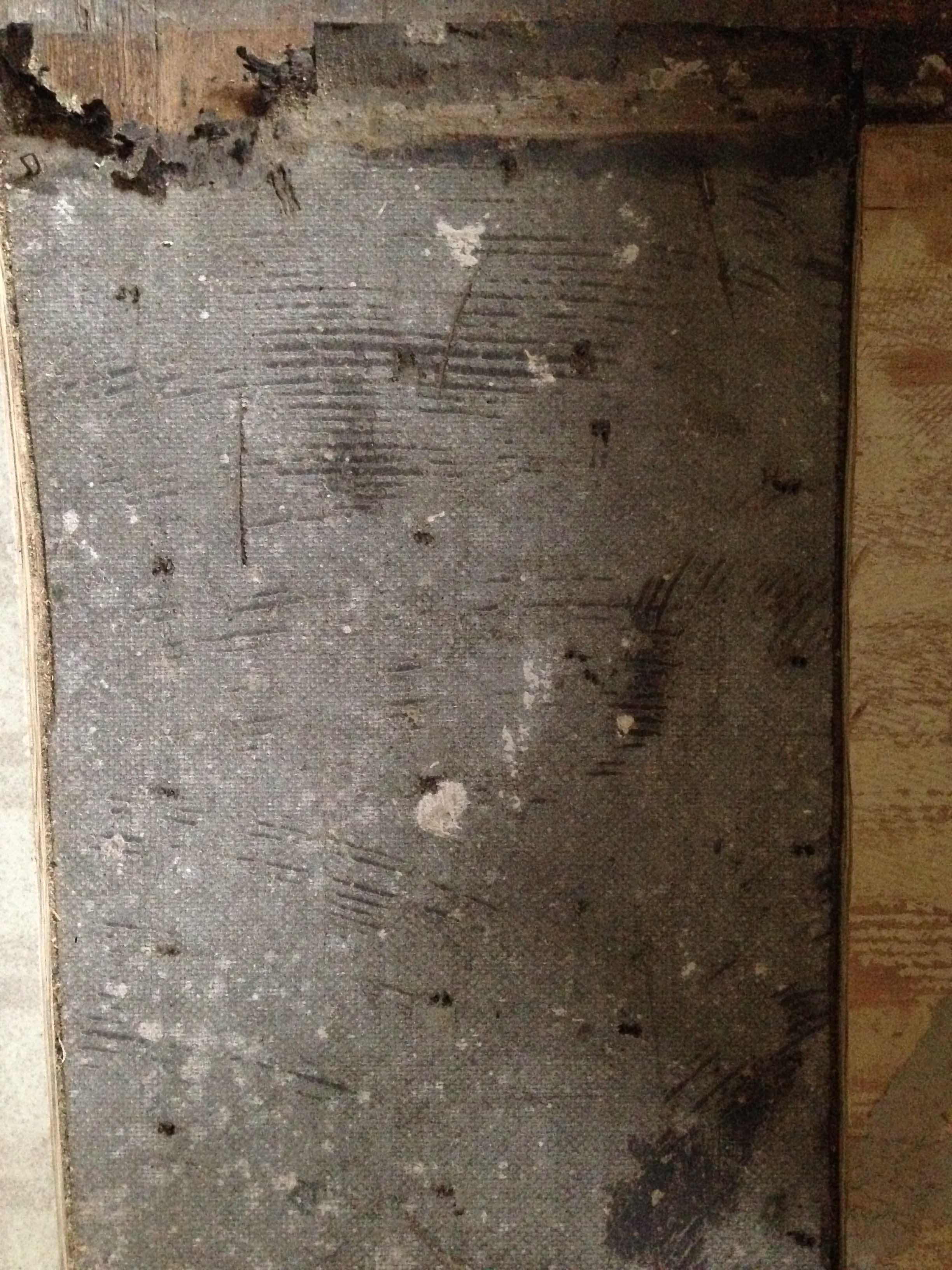 Identifying Flooring Underlayment (asbestos?)