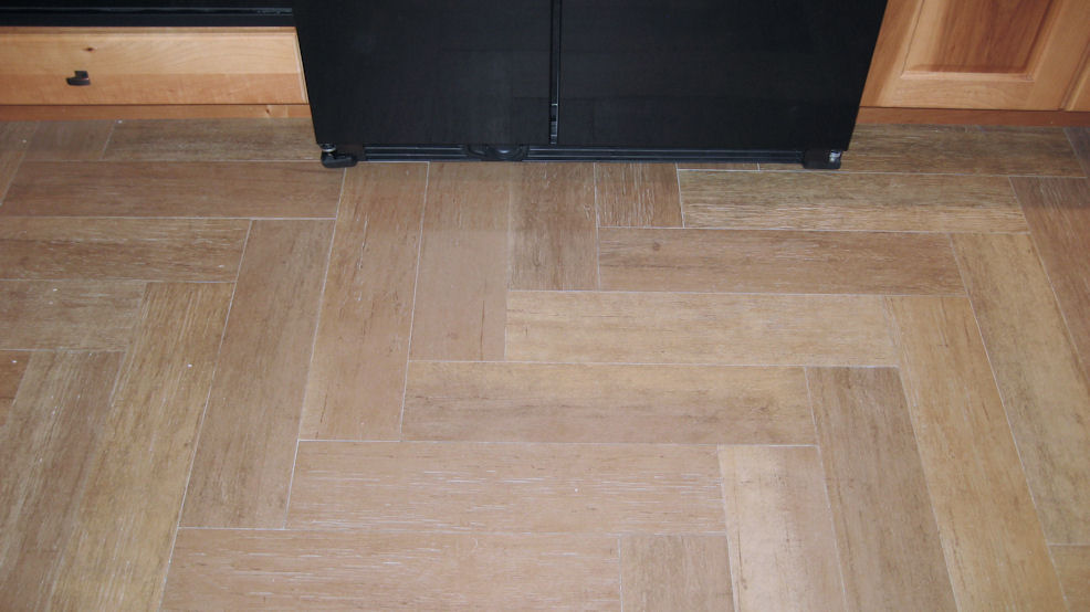 Tile or hardwood in kitchen flooring contractor talk for Hardwood floor tile kitchen