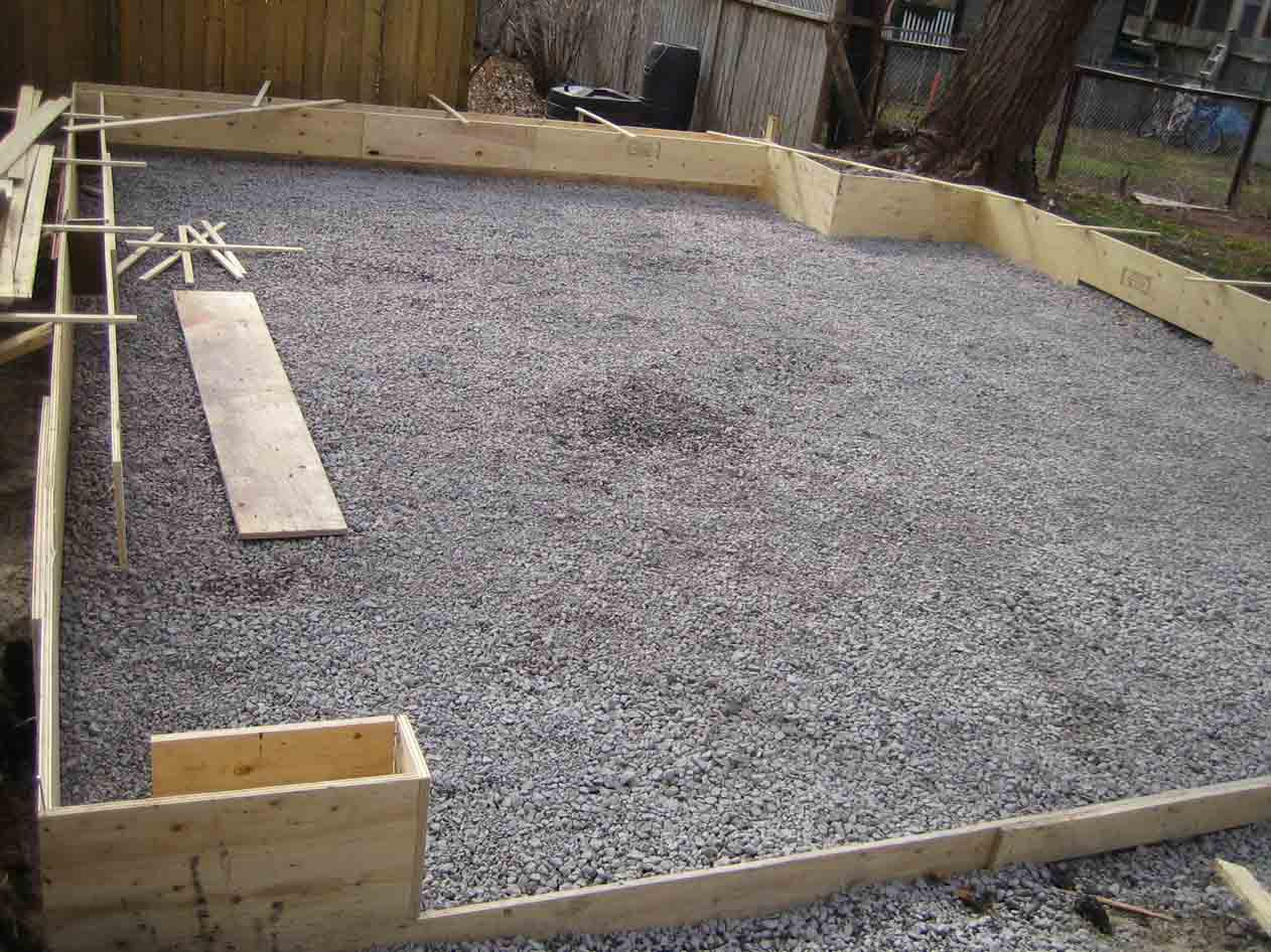Garage Slab 20 X 20 Edge Concerns Concrete Amp Paving