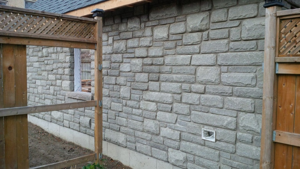 Soffit J Trim On Uneven Stone Surface Carpentry