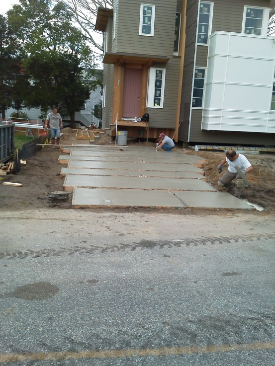 Pouring a sloped driveway concrete paving for Sloped driveway options