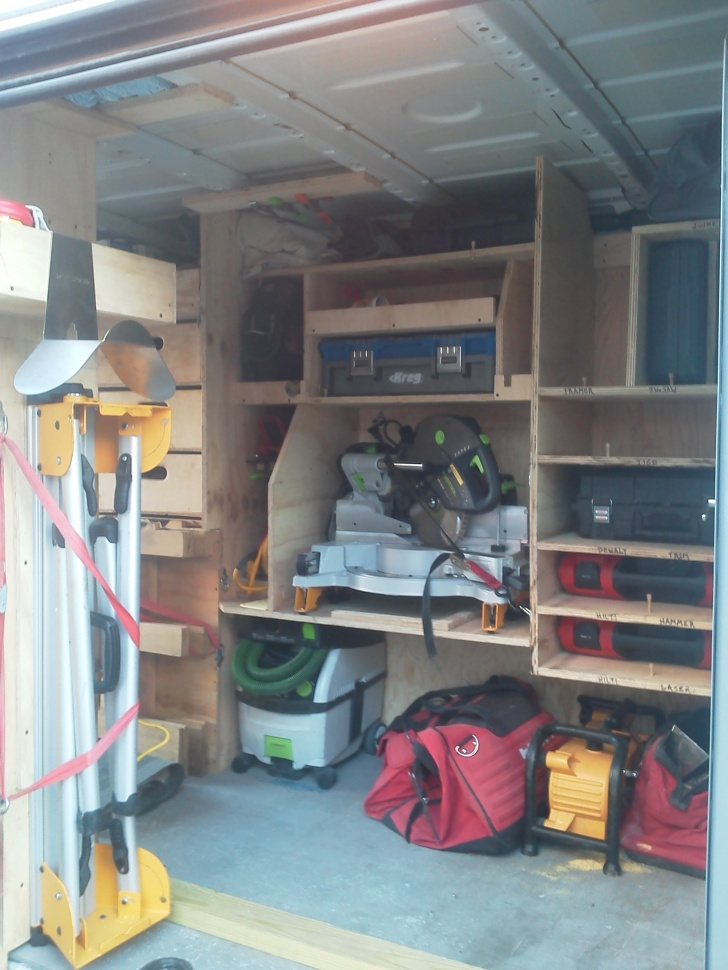Work van shelves vehicles contractor talk for Rv workshop